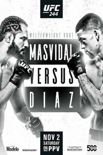 UFC 244 Nate Diaz vs Jorge Masvidal MMA Fight Art Silk Poster 24x36 27x40 D-259