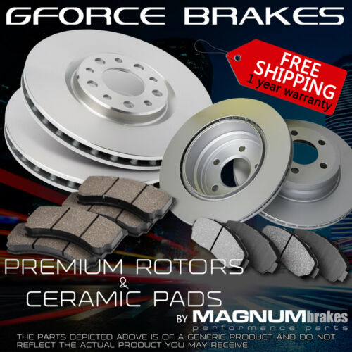 Toyota Sienna AWD Front+Rear Premium Rotors /& Ceramic Pads for 2004-2010
