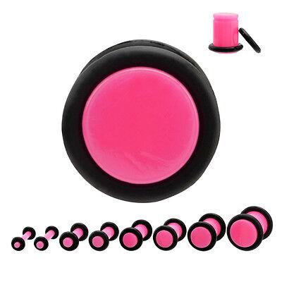 Piercing plug (tunnels ecarteur expander) rose de 1.6 mm à 8 mm