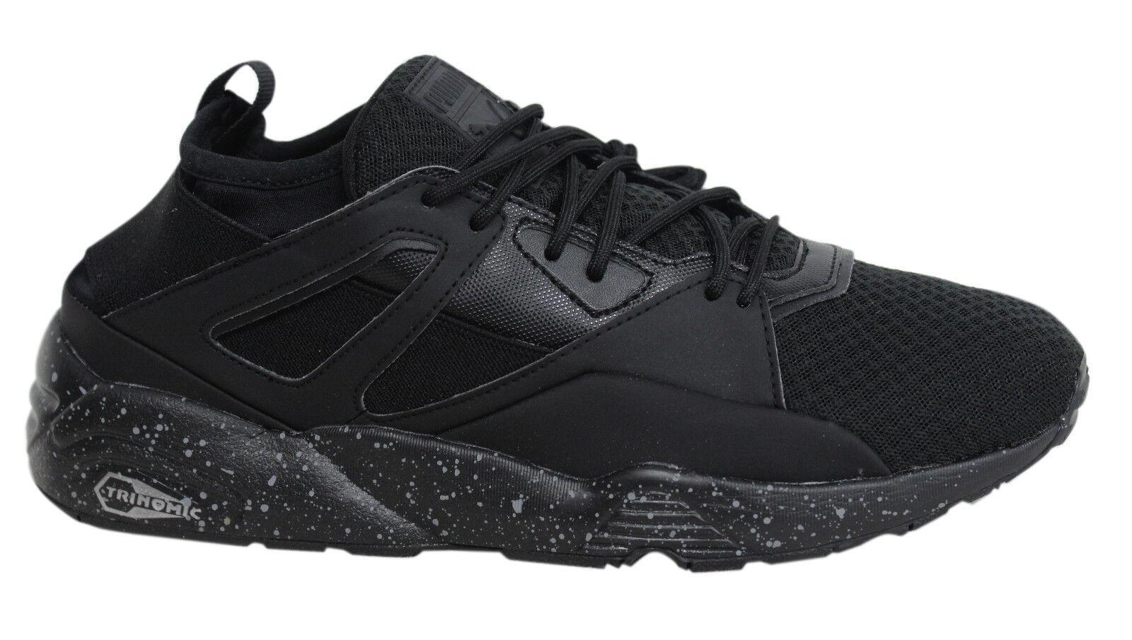 Puma Blaze Of Glory Sock Lace Up Black Mens Textile Trainers 362520 01 M12