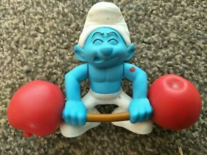 Weightlifter-McDonalds-Happy-Meal-Smurf-Good-Condition-2011