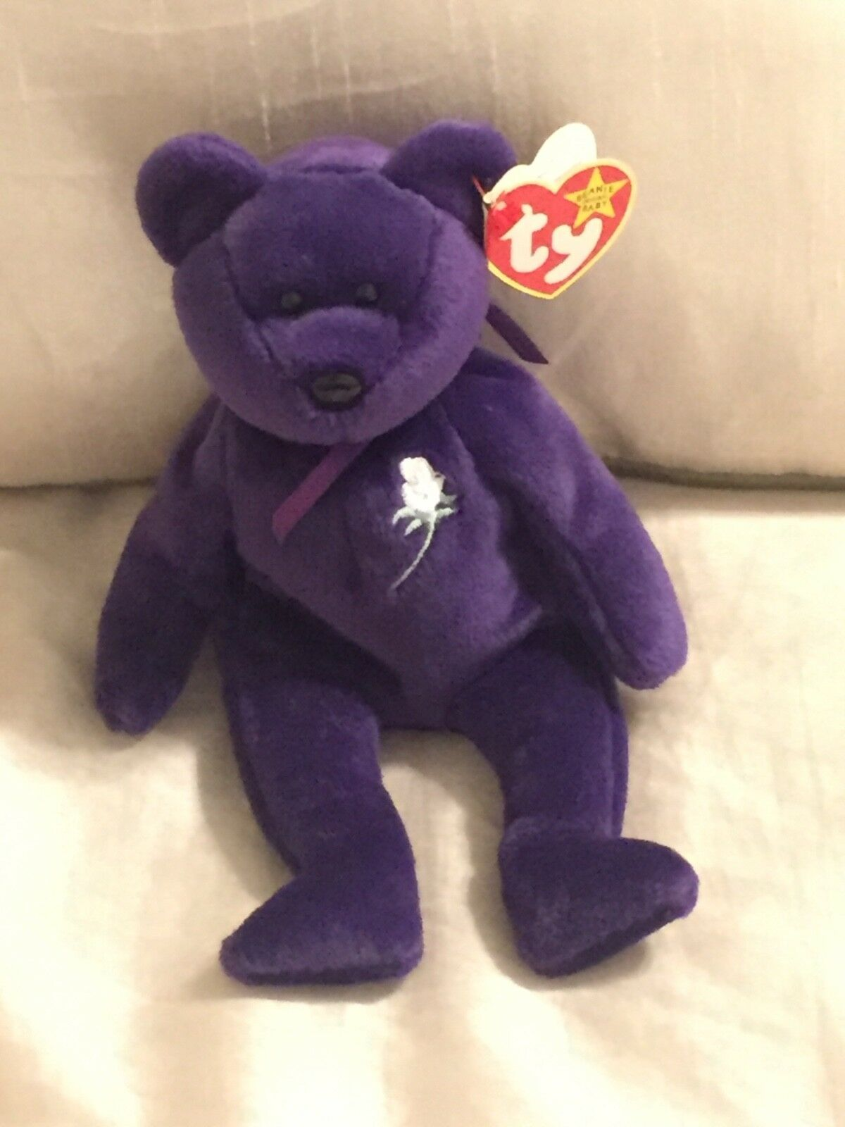 Ty Beanie Baby  PRINCESS the (Diana) Bear from 1997  RARE 1st edition  MINT