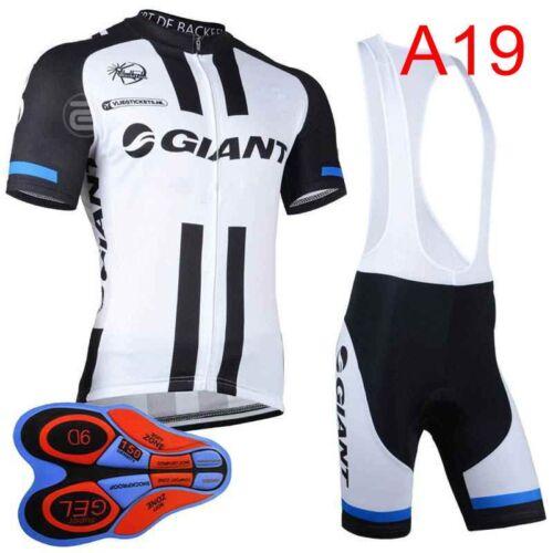 2019 Men team Cycling Jersey BIB shorts Set Mountain Bike Clothes Sportwear A277