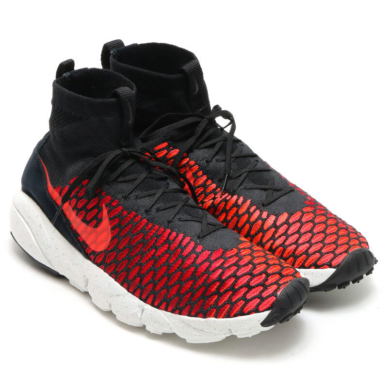 2016 Nike Footscape Magista Flyknit SZ 11 Black Gym Red Crimson QS 816560-002