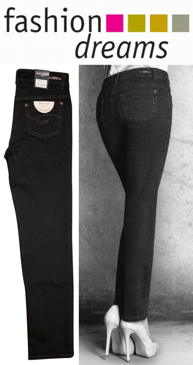 Anna Montana Magic Stretch - hochelastische Hose Jeans Röhre  36 - 46 schwarz