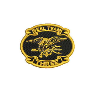 fbb32440 Image is loading US-NAVY-SEAL-TEAM-THREE-ST-3-EMBROIDERED-
