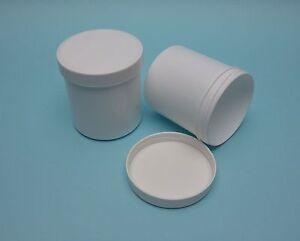 250ml-PP-Plastikdose-Kunststoffdose-Schraubdose-weiss-Schraubdeckel