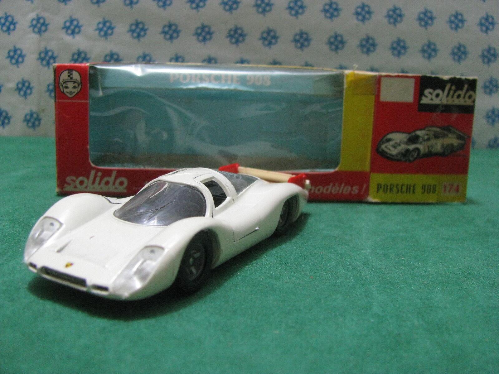 Vintage - PORSCHE 908 tail long Le Mans 1969 - 1 43 Solido n°174