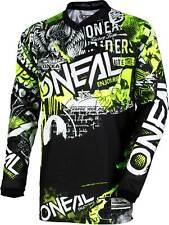 ONeal Element MX Jersey WILD Schwarz Weiß Moto Cross Downhill Enduro MTB Trail