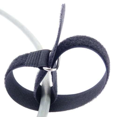 50 x Klett Kabelbinder 400 x 40 mm schwarz Kabelklettband Kabelklett Verschluss