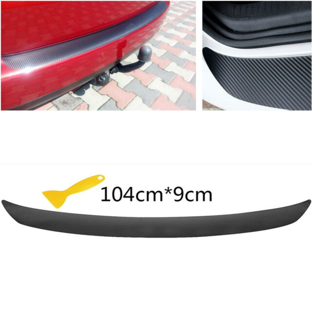 Carbon Fiber Look Auto Car Rear Trunk Edge Protector Sticker Decal Anti-Scratch