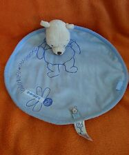"Sainsburys TU Winnie the Pooh Bear Blue Comforter Blankie Doudou 13"" Dragonfly"