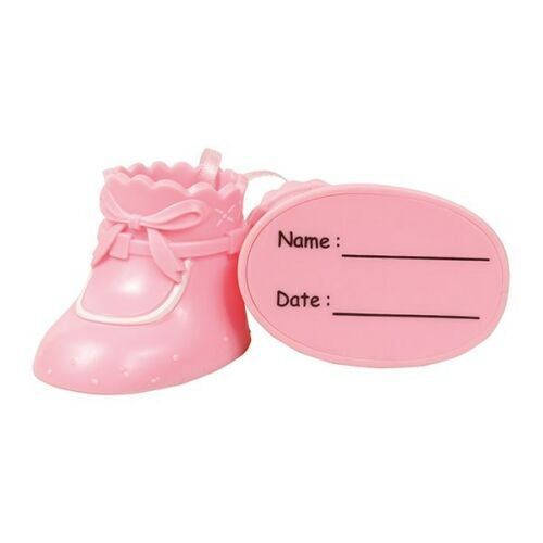 Pink and Blue Baby Booties Baby Shower Gender Reveal Cake DecorationsToppers
