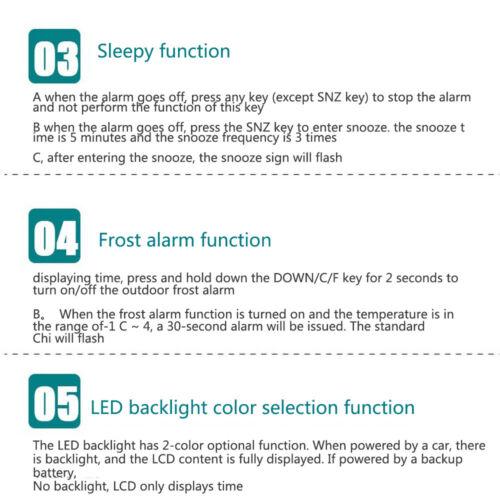 Auto Auto Temperatur Spannungsuhr Digital LED Thermometer Meter Monitor Alarm