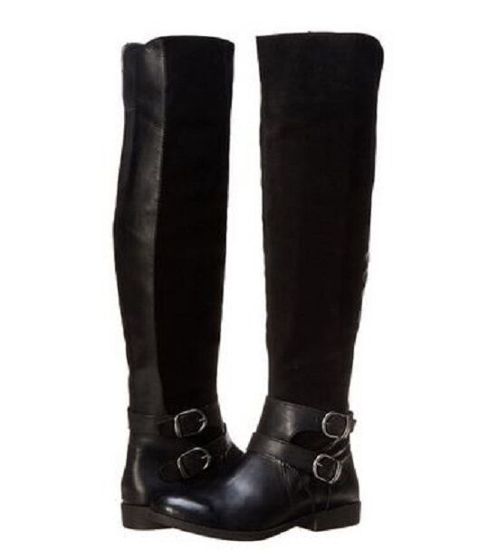 Lucky Brand Womens Zosha Side-Zip Strap Buckle Tall Equestrian Riding Boots