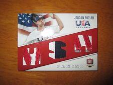 JORDAN BUTLER 2015 Panini USA Baseball Game Used TRIPLE PATCH #7/35 Florida
