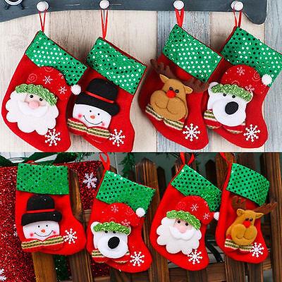 Cute Christmas Santa Socks Ornaments Festival Party Xmas Tree Hanging Decoration