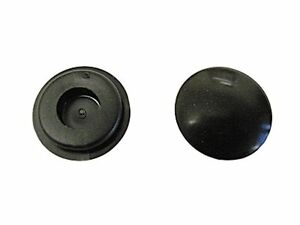 BLACK RUBBER BLANKING GROMMETS 9.5MM HOLE DIAMETER x 50