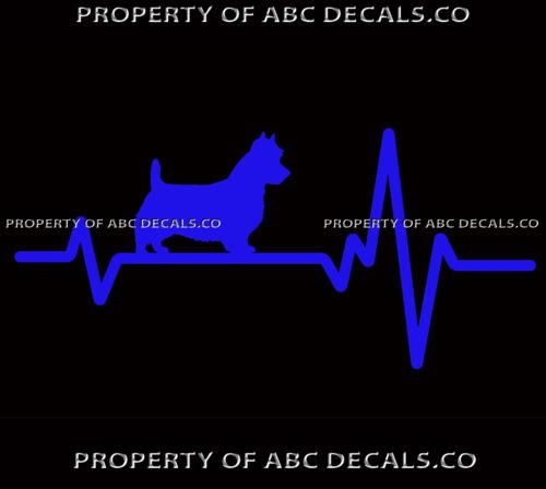 HEART BEAT LINE DOG AUSTRALIAN TERRIER Puppy Paw adoption Rescue CAR VINYL DECAL