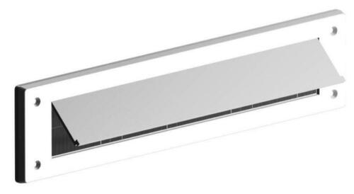white lnternal Cover with flap brush Seal Draught Excluder letterbox