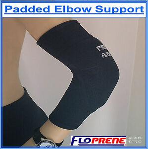 BREATHABLE-PADDED-ELBOW-SUPPORT-BRACE-Made-From-FLOPRENE-NEOPRENE