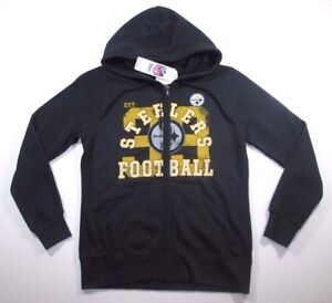 big sale ddf0d 08635 NFL Pittsburgh Steelers Women's Black Distressed Retro Full ...