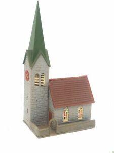 FALLER-Dorfkirche-mit-Kirchhof-BELEUCHTET-Spur-N-D0108