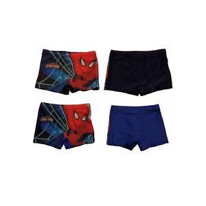 Badehose-Jungen-Kinder-Spiderman-Badeshort-Blau-Dunkelblau-NEU-A1-34