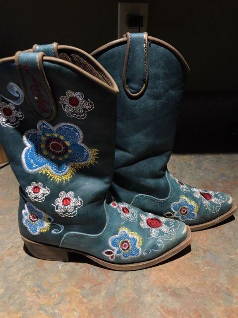 Blazin Roxx Toddler Zip Sage Snip Toe Boot