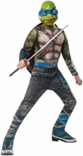 Leonardo Teenage Mutant Ninja Turtles TMNT Fancy Dress Halloween Child Costume