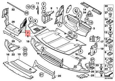 For BMW E60 E61 525i 528i 550i Front Passenger Right Undercar Shield Genuine
