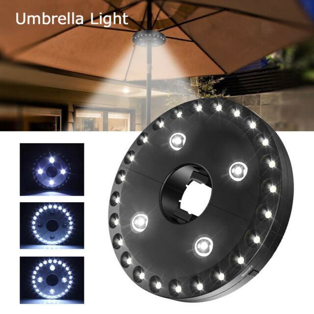 28 LED Parasol Patio Umbrella Light 3 Brightness Mode Outdoor Camping Tent  Light