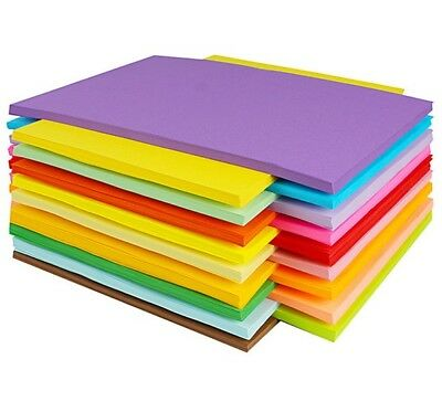 A6 Bright Blue Coloured 80gsm Paper 160gsm Card Art Craft Sheets Laser Inkjet