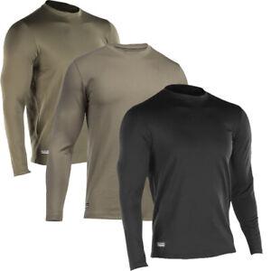 Under-Armour-Tactica-Coldgear-Camisa-Negra-Arena-Verde-Oliva-Compresion-Frio