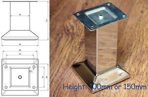 4x-chrome-poli-acier-meuble-pieds-PIEDS-Divan-Plinthe-placard-placards-nb149