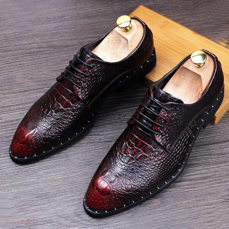 Hot Vogue Men's Casual Lace Up Wedding British Oxfords Solid Spring Pumps shoes