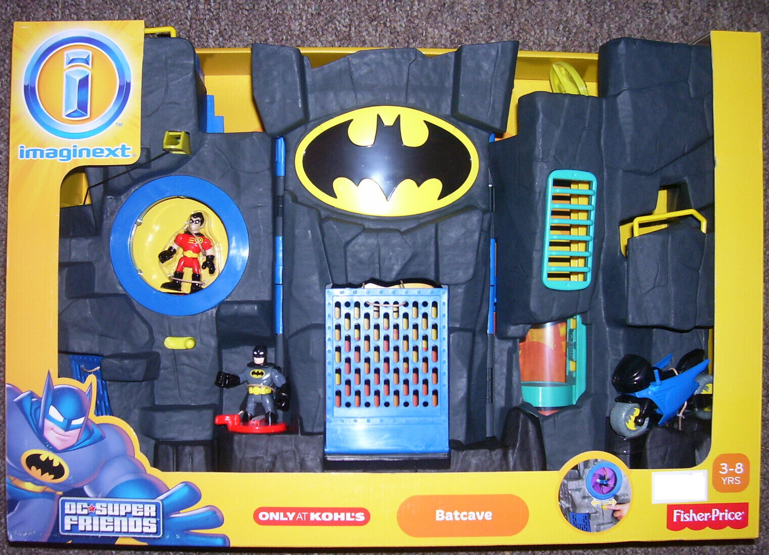 Fisher Price Imaginext Super Friends Batcave Playset in ...