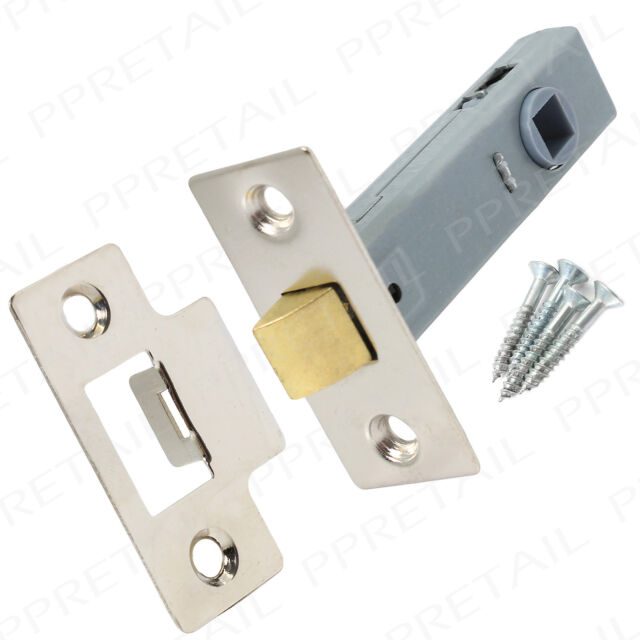 Nickel Internal Door Latch 75mm Long SUITS CHROME FINISH Silver Tubular Mortice