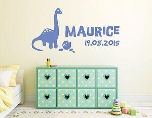 Details zu Wandtattoo Türschild NAME Junge Baby Wunschname Kinderzimmer  Dinosaurier pkm202