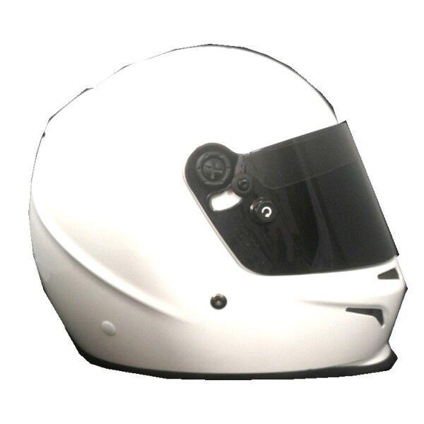 Go-Kart CASCO Tec tg. S Bialo SA2015 casco-kart, doppia anello-d+SCURO VISIERA