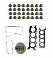 Jaguar Engine Set Of 32 Valve Stem Oil Seal And Valve Cover Gasket + Head Gasket on Sale