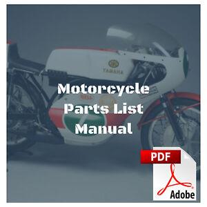 Yamaha 1967 Yr1 1968 Yr2 1968 Yr2c Parts List Motorcycle Manual Ebay