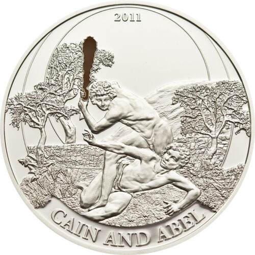 Cain /& Abel Silver Proof Coin 2$ Palau 2011 with COA Box