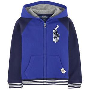 b09cb6e4b NWT Ralph Lauren Polo Boys Logo Patch Full Zip Hoodie Jacket | eBay
