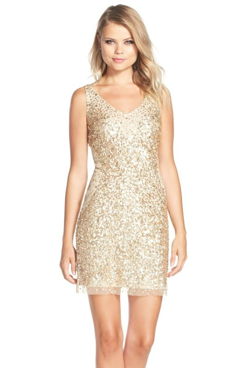 Adrianna Papell sequin dress size 2
