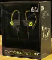 Beats by Dr. Dre Powerbeats2 Wireless Ear-Hook Headphones - Shock Yellow Headphones