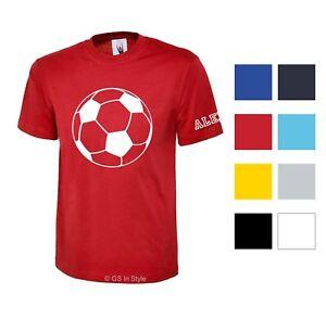 ENFANTS-personnalises-t-shirt-coton-avec-motif-amp-pour-nom-sur-le-Manche
