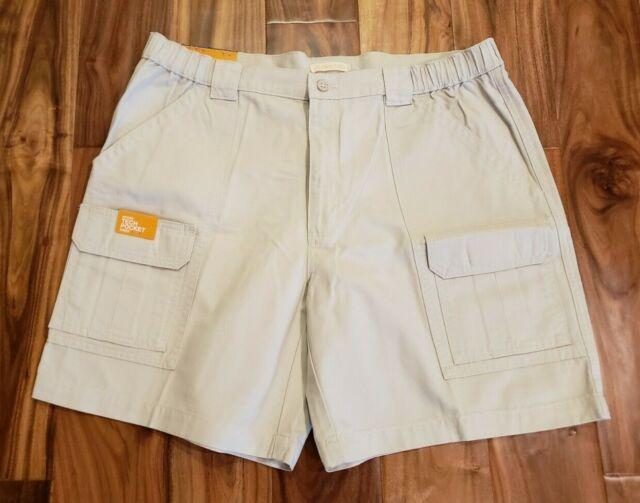 Savane Mens Flat Front Cargo Hiker Shorts