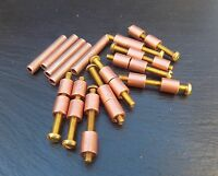 5 Pairs Copper & Brass Loveless Bolts Knife Making Handle Scales Bolt Bushcraft