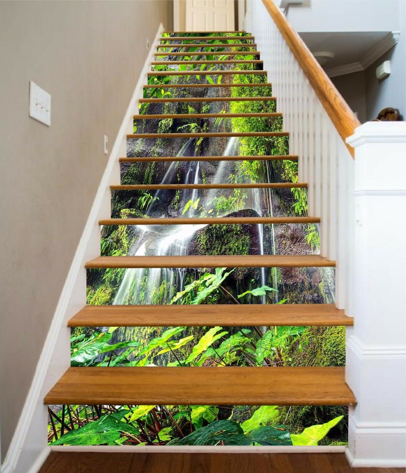 3D Stone Plants 864 Stair Risers Decoration Photo Mural Vinyl Decal Wallpaper AU